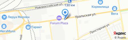 Кинпласт на карте Краснодара
