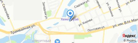 Кошка на карте Краснодара