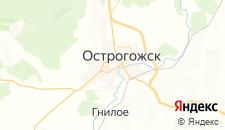 Отели города Острогожск на карте