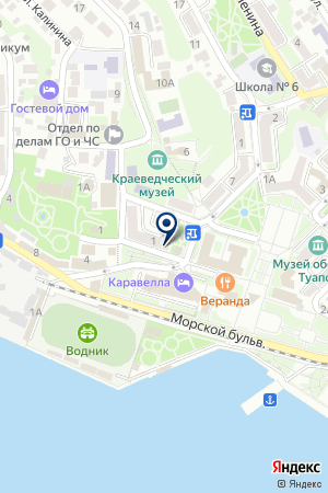 МАГАЗИН СТРОИТЕЛЬНЫХ ТОВАРОВ ТАВРИДА на карте Туапсе