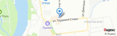 Юнис на карте Краснодара