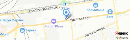 Исток на карте Краснодара