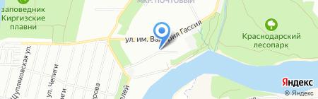 Почтовый на карте Краснодара