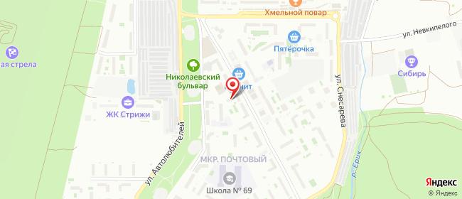 Карта расположения пункта доставки Краснодар Писателя Знаменского в городе Краснодар