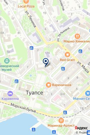ТД РАДВА на карте Туапсе