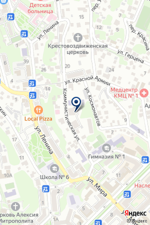 ДЕТСКИЙ САД № 21 на карте Туапсе