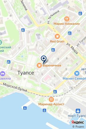 ПРОМТОВАРНЫЙ МАГАЗИН ДЖОКОНДА на карте Туапсе