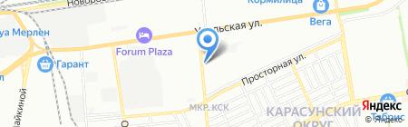 Ковсар на карте Краснодара