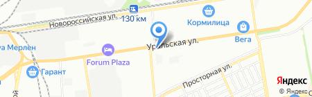 Артемида на карте Краснодара
