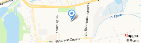 Детский сад №191 на карте Краснодара
