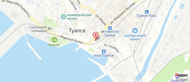 Карта расположения пункта доставки Lamoda/Pick-up в городе Туапсе