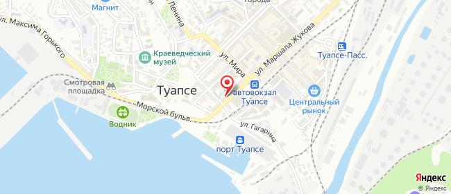 Карта расположения пункта доставки Туапсе Жукова в городе Туапсе