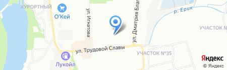 Лаванда на карте Краснодара