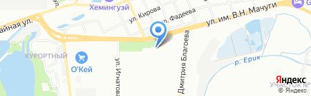 Любаша на карте Краснодара