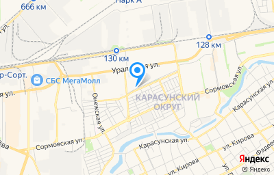 Местоположение на карте пункта техосмотра по адресу г Краснодар, ул Просторная, д 7А