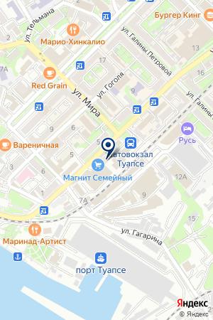 Окна Туапсе на карте Туапсе