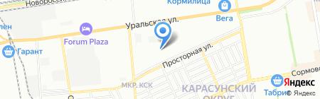 Градиент на карте Краснодара