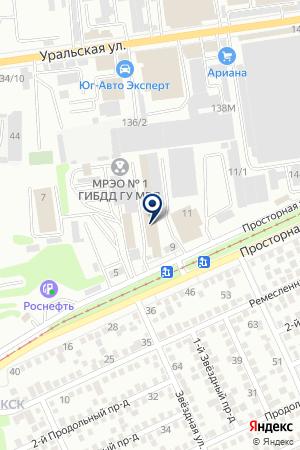 ТФ МАСАНДРА на карте Краснодара