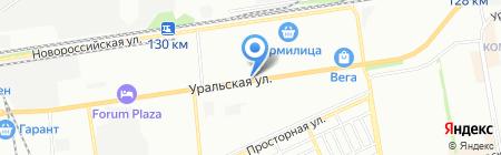 Amore на карте Краснодара