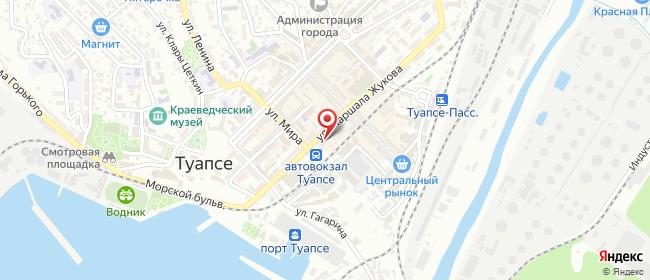 Карта расположения пункта доставки Халва в городе Туапсе