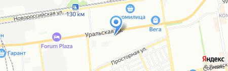 Seca на карте Краснодара