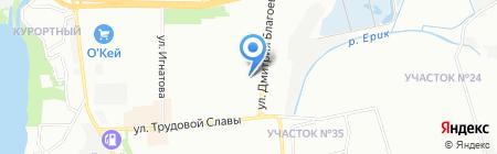 Люкс ТО на карте Краснодара