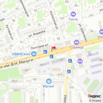 г. Краснодар, ул. Мачуги, на карта