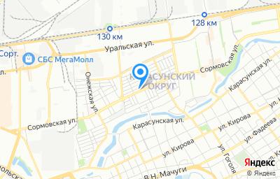 Местоположение на карте пункта техосмотра по адресу г Краснодар, ул Сормовская, д 75