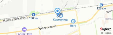 Машида на карте Краснодара