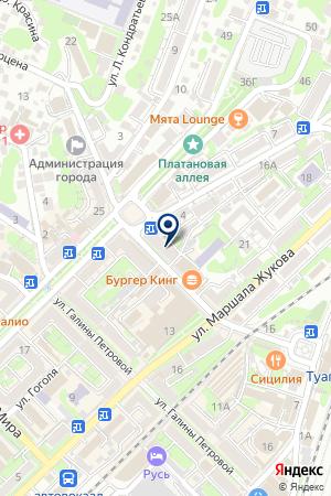 ПИЦЦЕРИЯ МАРИО на карте Туапсе