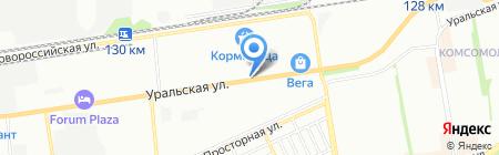 Юг-Элемент на карте Краснодара