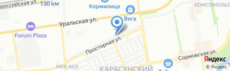 Партнер Плюс на карте Краснодара