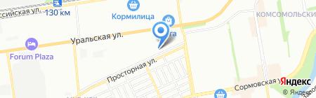 Русский ламинат на карте Краснодара