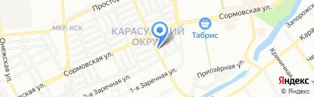 Афина на карте Краснодара