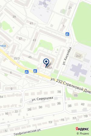 Городская поликлиника №21 на карте Воронежа