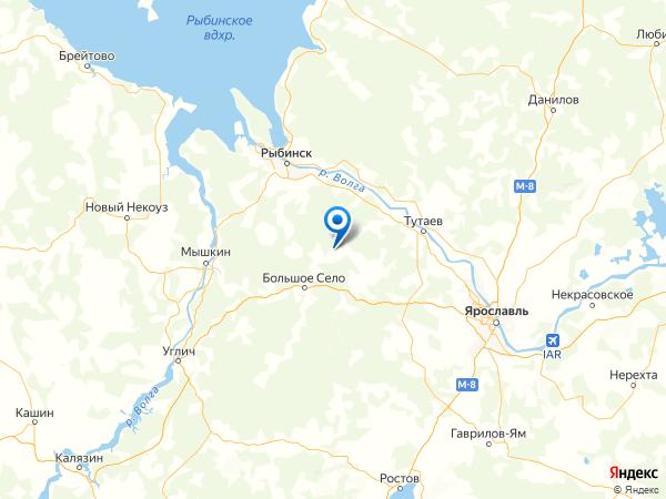 деревня Борисовское на карте