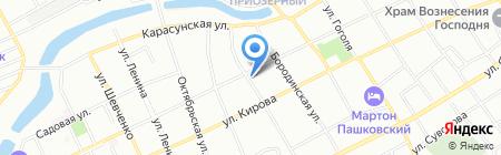 Продовольственный магазин на ул. Плиева на карте Краснодара