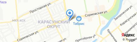 Лилия на карте Краснодара