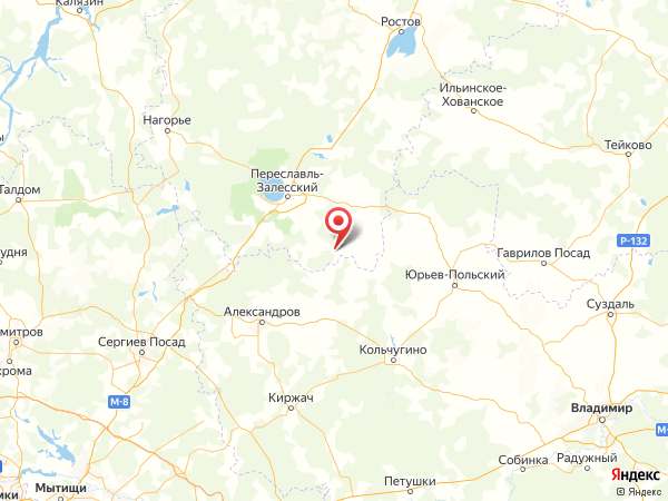 село Давыдово на карте