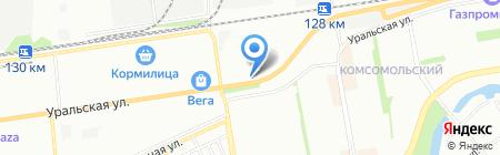 Богдановна на карте Краснодара