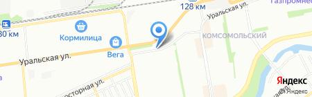 Авто-маг на карте Краснодара