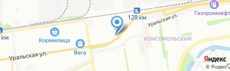 Форвард на карте Краснодара