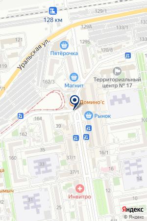 АЗС ТЕРНИК на карте Краснодара