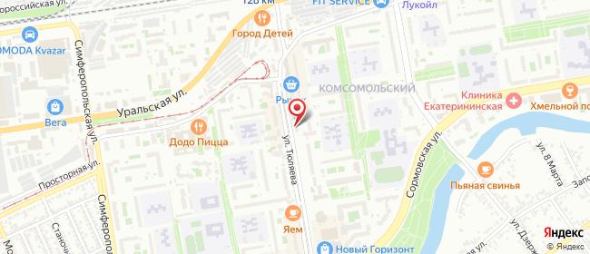 Карта расположения пункта доставки Краснодар Тюляева в городе Краснодар