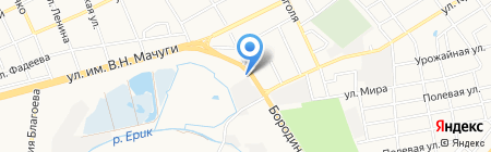 Автомойка на ул. Василия Мачуги на карте Краснодара