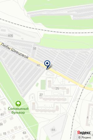 Автостоянка на карте Воронежа