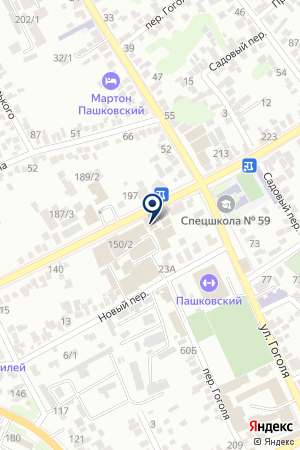 Продовольственный магазин на ул. Фадеева на карте Краснодара