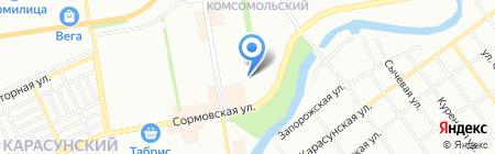 ЮРСК на карте Краснодара