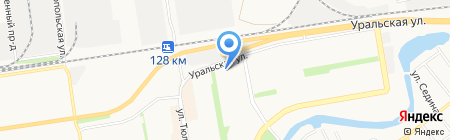 Бэла на карте Краснодара