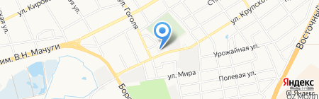 Мехбат на карте Краснодара